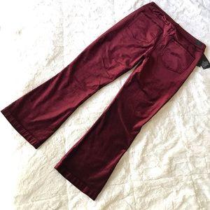 PAIGE Pants - PAIGE Colette Crop Flare - Magenta Velvet
